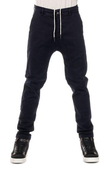 Pantalone a Fantasia Geometrica in cotone Stretch BOERI TWILL