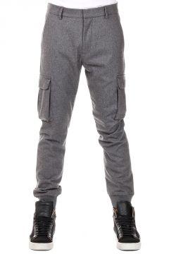 Pantaloni Cargo in Lana