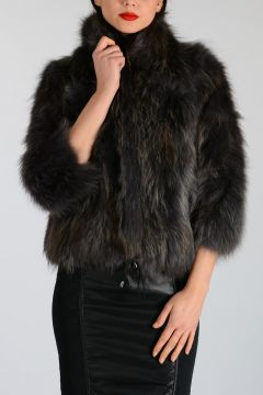 3/4 Sleeve Real Fur Jacket