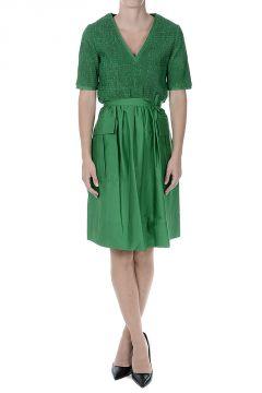 Cotton Blouson Dress