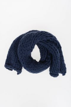 Virgin Wool Blend Knitted Scarf