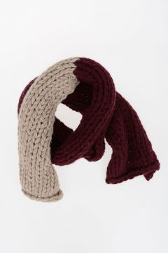Bicolor Knitted Scarf