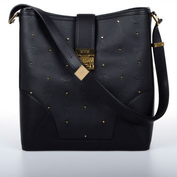 CLAUDIA Leather Studded Medium Bag