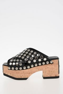 MCQ Leather Studded cork Wedge PALOMA Shoes