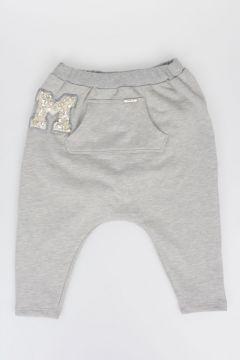 Pantalone Dropped crotch Con Dettagli Gioiello