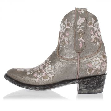 Embroidered Leather Western Boots