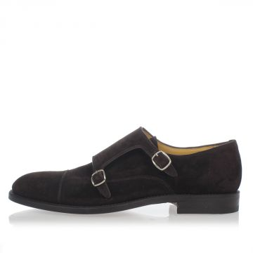 Leather double buckles Loafer