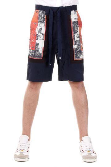 Shorts in Cotone con Stampa