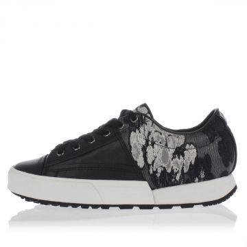 Sneakers in Tessuto e Pelle