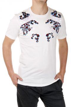 T-shirt Ricamata in Cotone