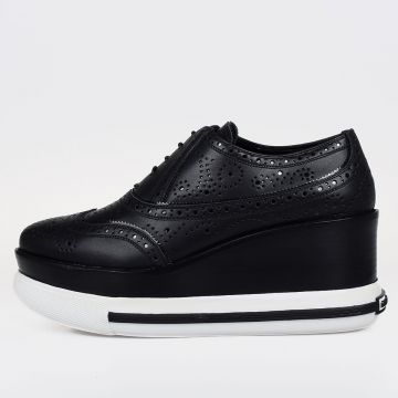 Leather Oxford with Platform