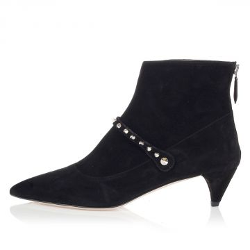 Studded Ankle boots in suede