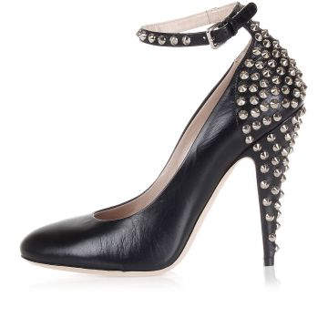 11 cm Leather studded pumps