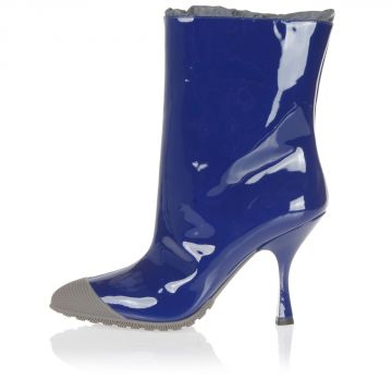 9,5 cm heeled patent leather ankle boots