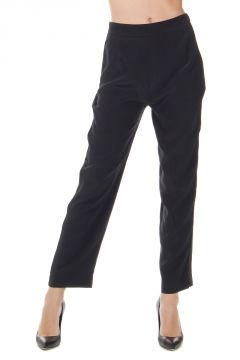 Pantalone in Crepe con Pieghe