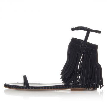 Sandalo in Camoscio con Frange