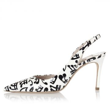 Printed Patent Leather Pumps Shoes