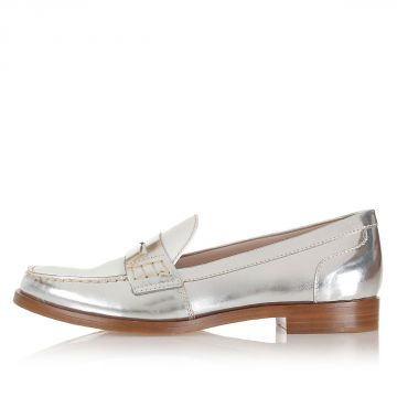 Leather Two Tone Loafer