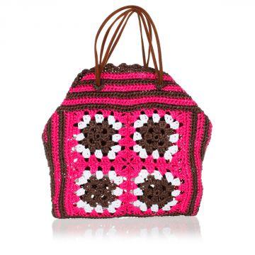Woven Raffia Bucket Bag