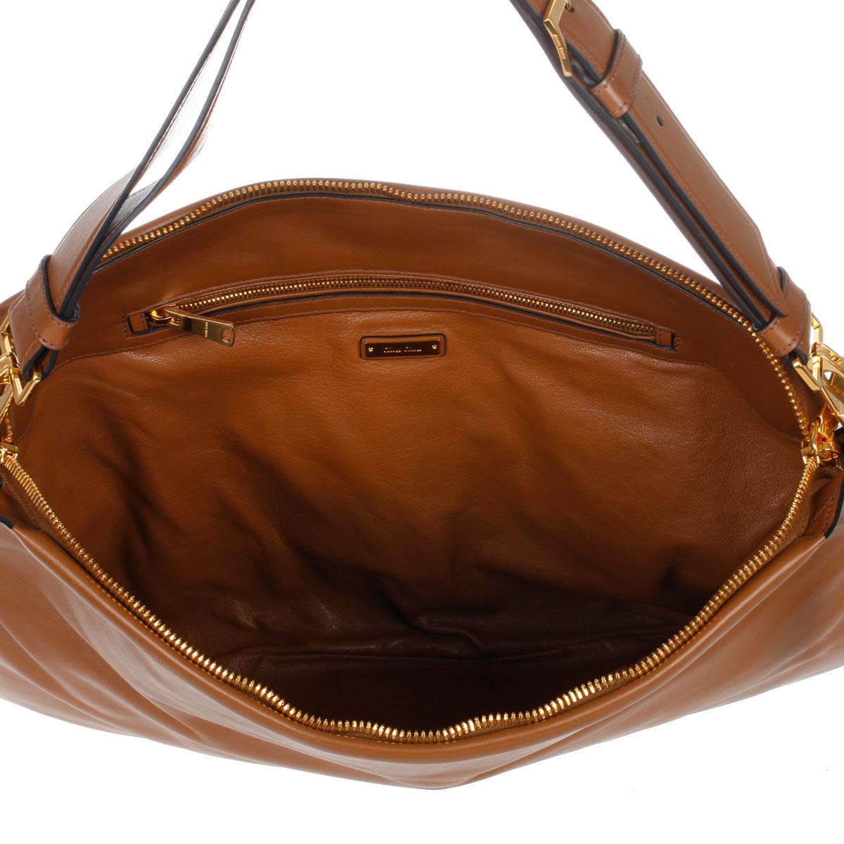 Borse A Spalla Miu Miu : Miu women leather shoulder bag spence outlet