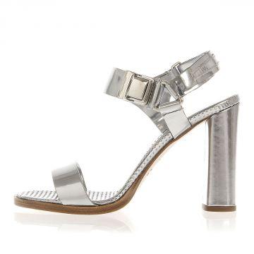 Leather Sandal Heel 9.5 cm