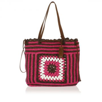 Woven Raffia Shopping Bag