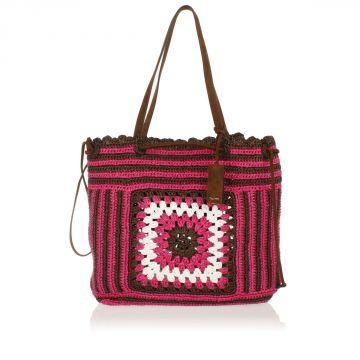Woven Raffia Shopping Bag