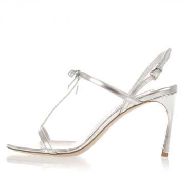 Leather Sandal with Ribbon Heel 9 cm