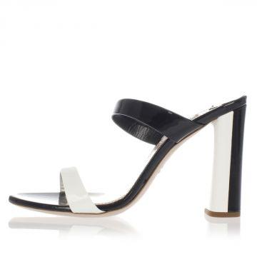 Sandalo Sabot in Pelle Verniciata Tacco 10.5 cm