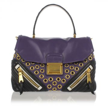 Studded Hand Bag with Removable Strap