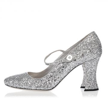 Glitter Decollettes 9 cm heel