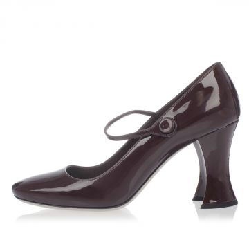 Leather Decollettes 9 cm heel