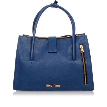 Leather MADRAS Hand Bag