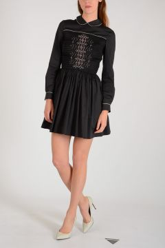 Long sleeves Rosatello Smock Dress