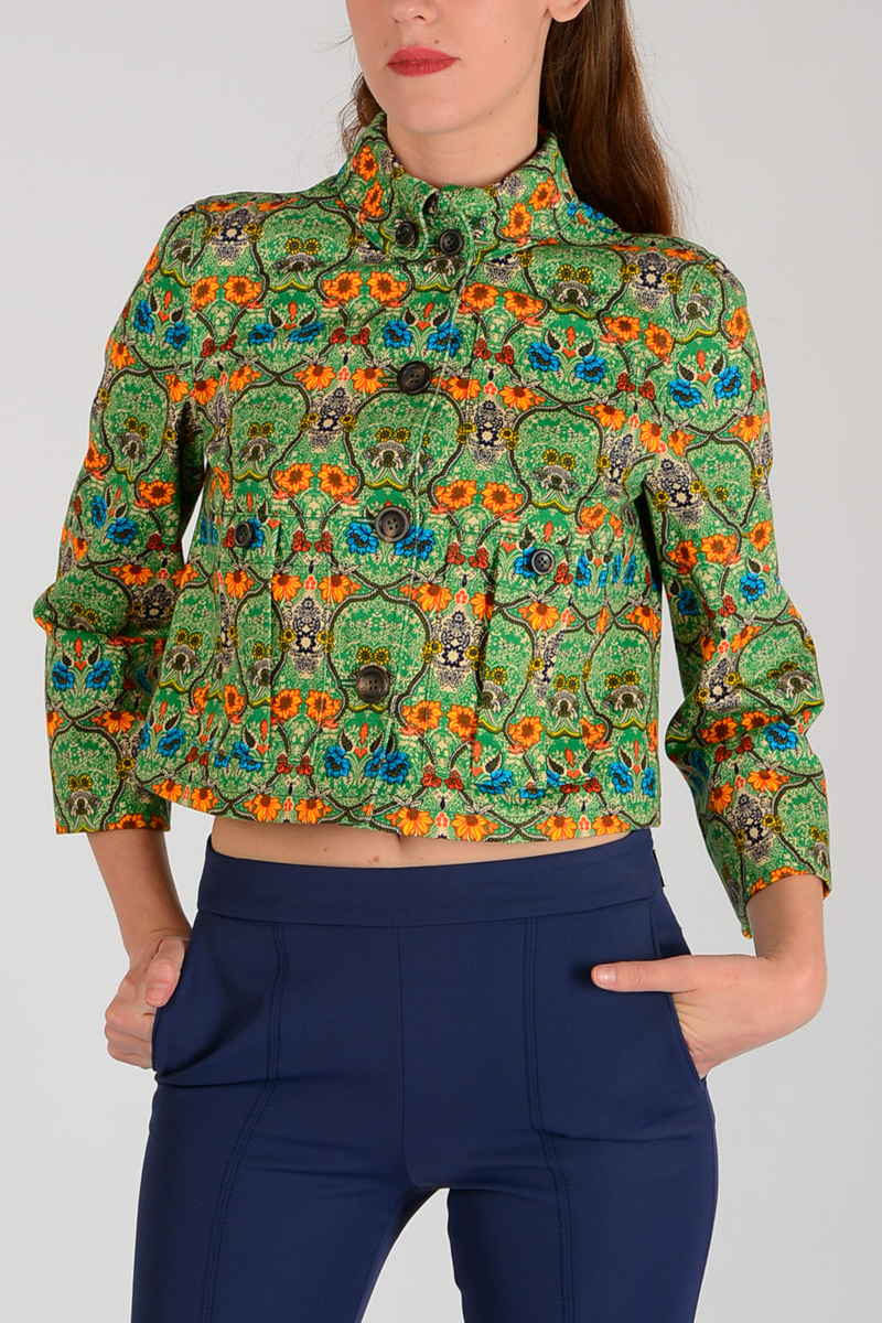 240ce10352 MIU MIU Women Flowered Jacket - Glamood Outlet