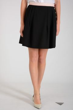 Pleated Virgin Wool Skirt