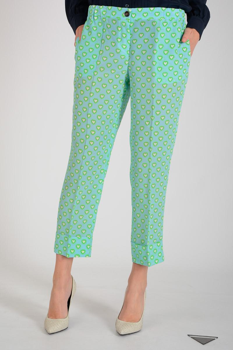MIU MIU · Heart Printed Silk Pants