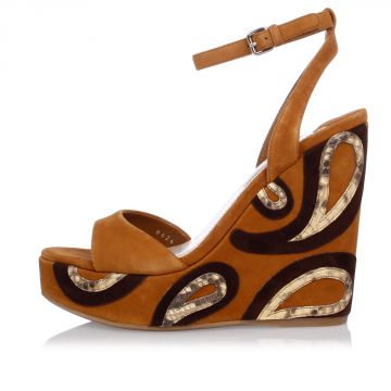 Wedges with Python Skin Details