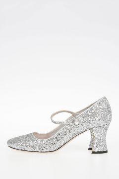 Sandalo Glitter con Tacco 6 cm