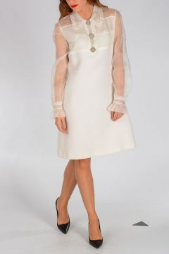 Virgin Wool And Silk Dress