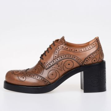 Leather Derby with Heel