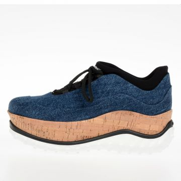 Platform in Denim 5.5 Cm