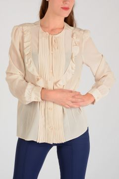 Silk Pleated Shirt
