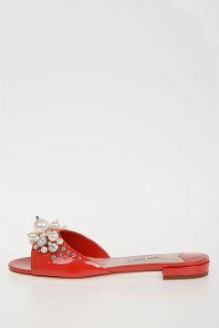 Jewel Leather Slipper