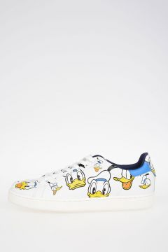 Disney Donald Duck Printed Leather Sneakers