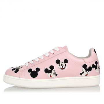 Disney Leather Embroidery Mickey Mouse Sneakers