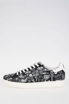 Printed Leather Sneakers