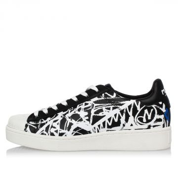 Leather Printed Sneakers