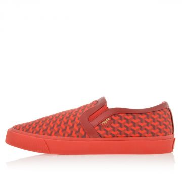 Sneakers Slip On con Fantasia Geometrica