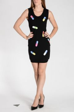 MOSCHINO COUTURE Printed Knitted Dress